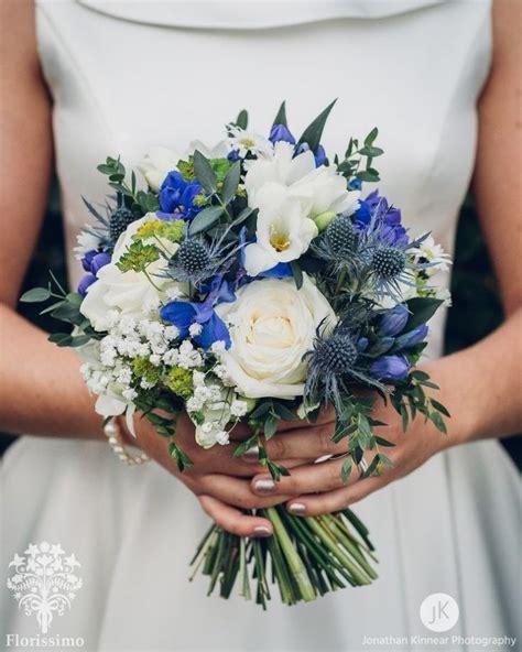 Blaue Und Weiße Hochzeitsblumensträuße  Hochzeit Ideen