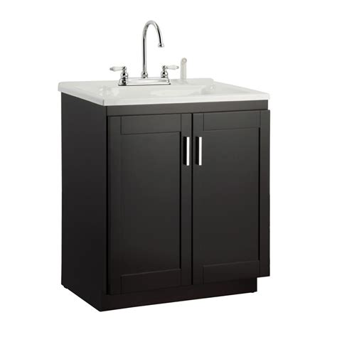 utility sink cabinet foremost palmero 30 in laundry vanity in espresso and