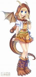 ANIME ART Dragon Girl. | Art Decoration Design
