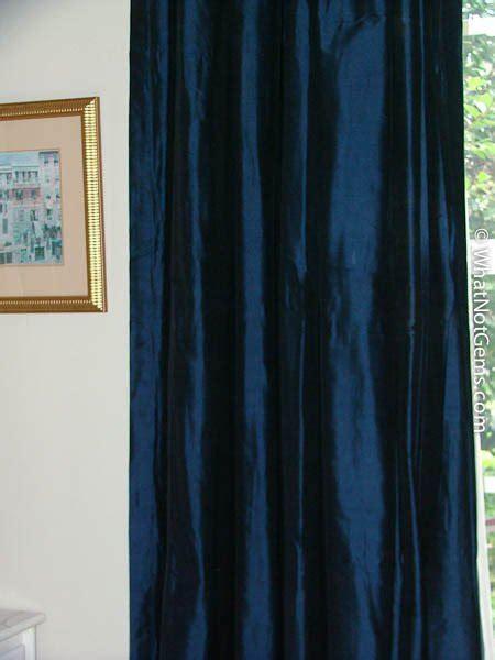 Silk Pinch Pleat Drapes - blue silk dupioni pinch pleat drapery 50 quot x 120 quot