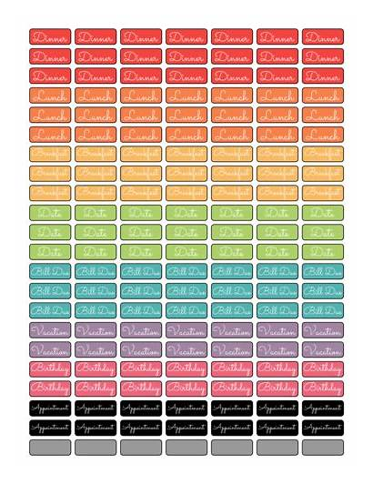 Labels Planner Label Printable Template Templates Daily
