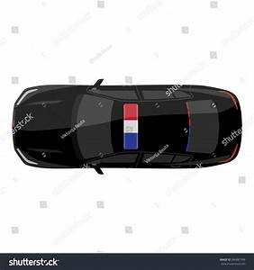 Vector Illustration Top View Police Car Stock Vector ...
