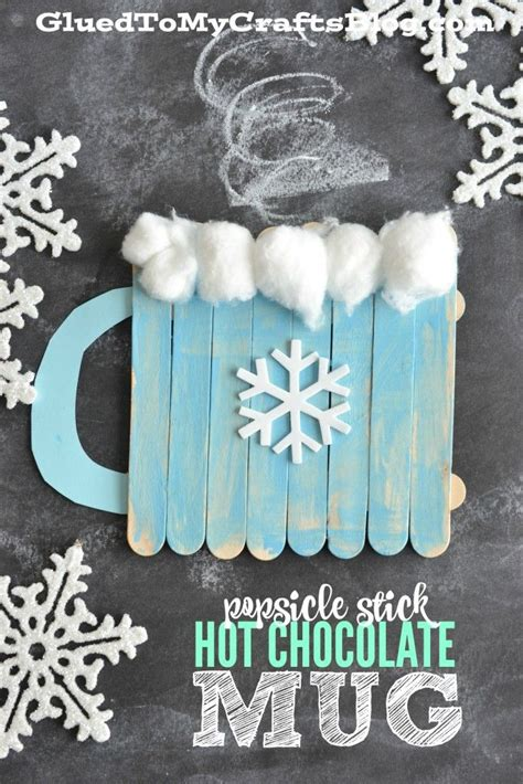 january craft ideas popsicle stick chocolate mug kid craft simple 2242