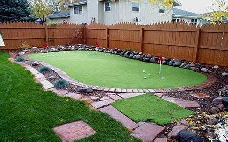backyard putting green backyard haven   backyard