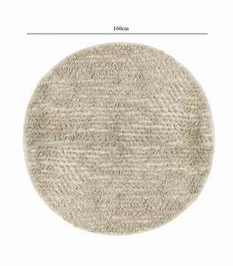tapis rond 100 coton beige diametre 160cm With tapis rond 100 cm