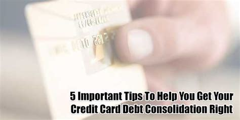 5 Important Tips To Help You Get Your Credit Card Debt