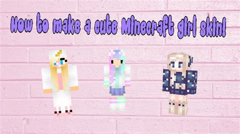 How To Make A Cute Minecraft Girl Skin! (timelapse) Youtube