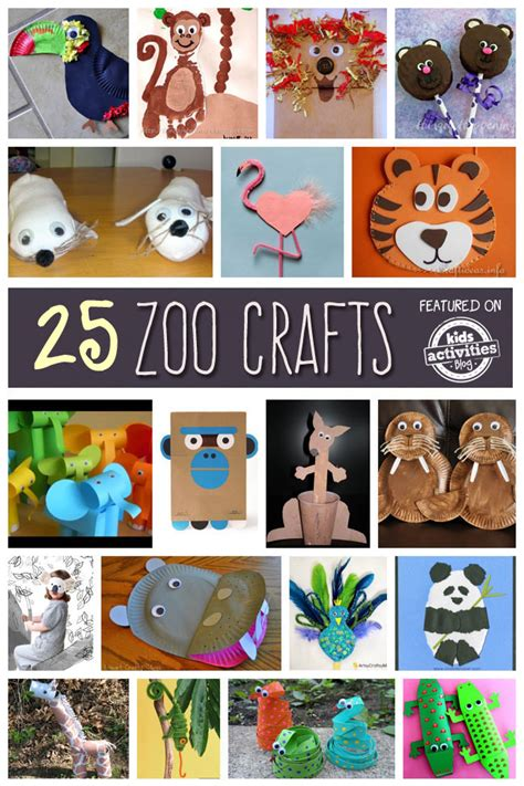 25 zoo animal crafts and recipes 252 | zoo animal crafts pin me