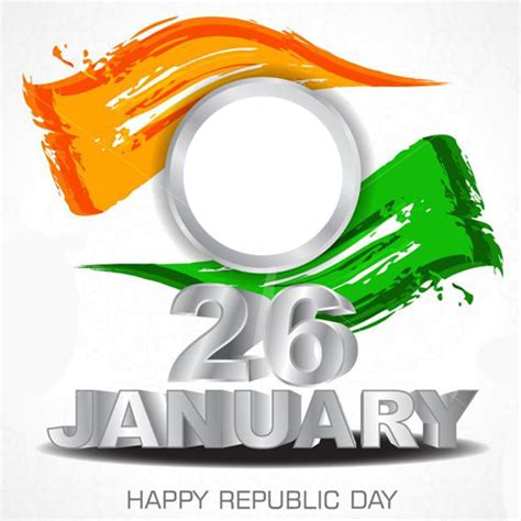 create happy republic day abstract art frame   photo