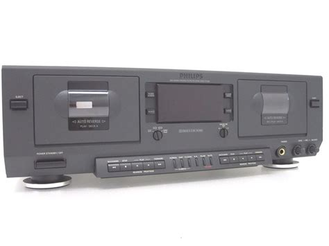 Audio Cassette Player philips stereo dual cassette player recorder deck