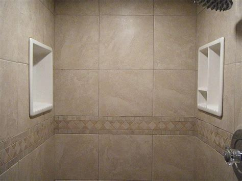 diy tile shower bathroom shoo soap shelf dish shower niche recessed