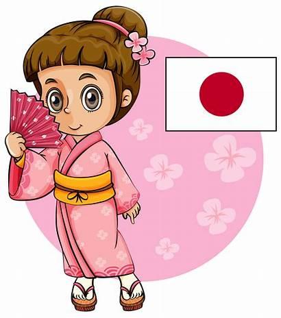 Japanese Japan Flag Kimono Pink Vector Clip