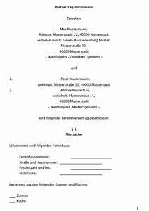 Mietvertrag Wg Zimmer Kostenlos : mietvertrag ferienhaus vorlage zum download ~ Lizthompson.info Haus und Dekorationen