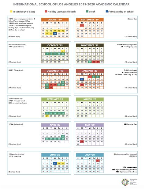 calendar international school los angeles