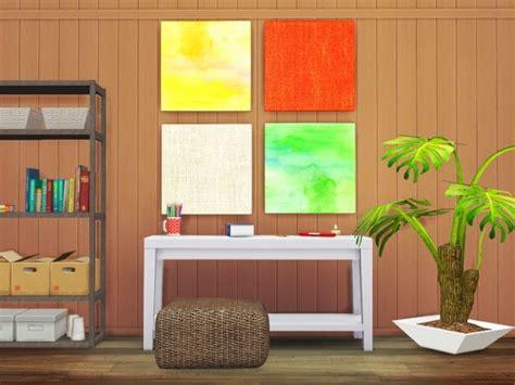 Sims 4 Home Decor : Autumn Watercolors (home Craft Wall Decor) At Jenba Sims