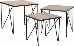 Table Gigogne Industriel : tables gigognes en m tal esprit industriel lot de 3 ~ Teatrodelosmanantiales.com Idées de Décoration