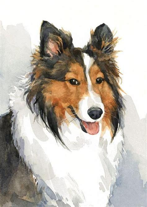 dog watercolor pet portrait  realistic painting white