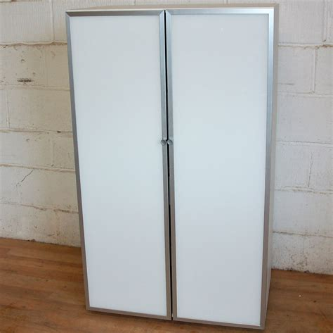 Glass Cupboard by Glass Door Cupboard White Aluminium 5057 Allard Office