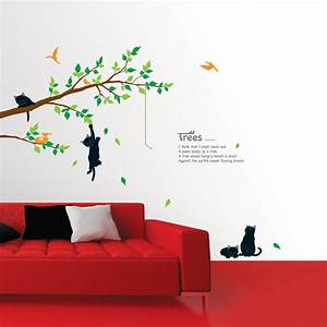Cats on the Tree Wall Stickers - wallstickery com