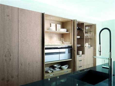 retractable kitchen cabinet doors the aero glass kitchen with island by mobalco 4805