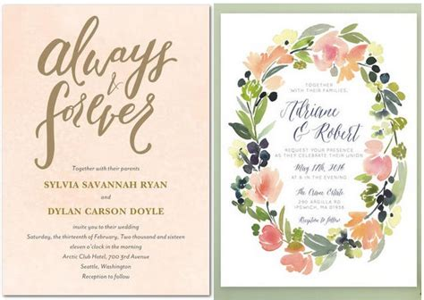 totally gorgeous watercolor wedding invitations