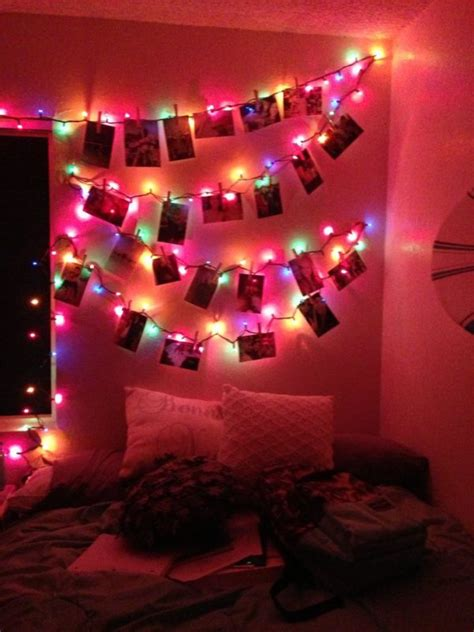 ideas lindas  decorar tu cuarto  lucecitas navidenas