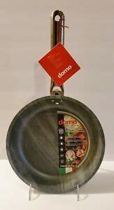 domo italy gray wood grain  layer  stick  skillet fry pan   tags ebay