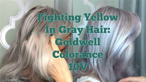 fighting yellow  gray hair goldwell colorance foam