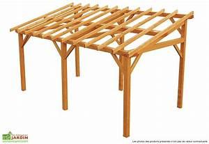 Carport en bois mon amenagement jardin for Abri de jardin bois pas cher leroy merlin 5 auvent terrasse appenti bois carport tradi