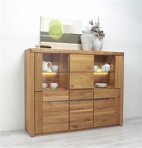 Highboard Wildeiche Massiv Solido Made In Germany