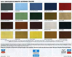 1967 Plymouth Gtx Color Chart