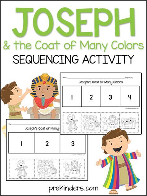 joseph  coat sequencing activity prekinders