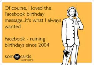 Funny Facebook Birthday Messages