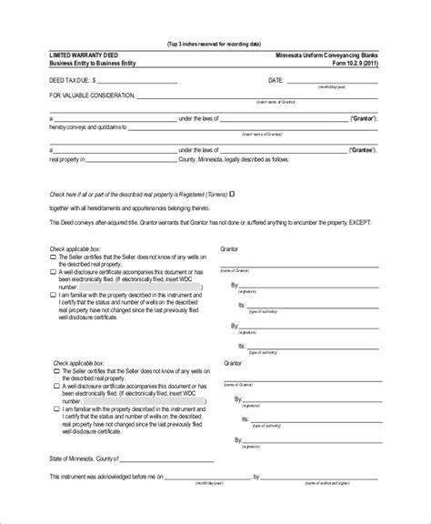 20953 warranty deed form template 10 sle warranty deed forms sle templates
