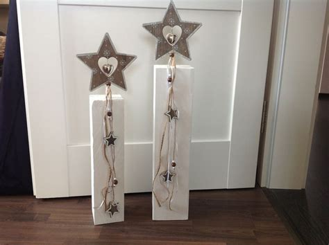Holz Dekoration Weihnachten by Holzpfosten Set Sterne Weihnachtsdeko Flotterfaden Auf