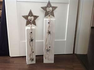 Dekorationen Aus Holz : holzpfosten set sterne weihnachtsdeko von flotterfaden auf weihnachten pinterest ~ Yasmunasinghe.com Haus und Dekorationen
