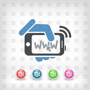 Internet connection on smartphone icon Royalty Free Vector ...