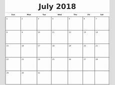 Juli 2018 Kalender Deutsch mit Notizen – Printable