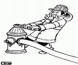Hydrant Fire Coloring Firefighter Printable sketch template