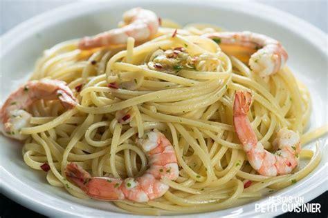 recette de spaghettis aux crevettes ail et piment d espelette