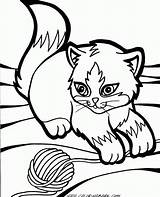 Coloring Pages Wind Kittens Printable Chimes Kitty Cats Baby Cartoon Cute Google A4 Puppys sketch template