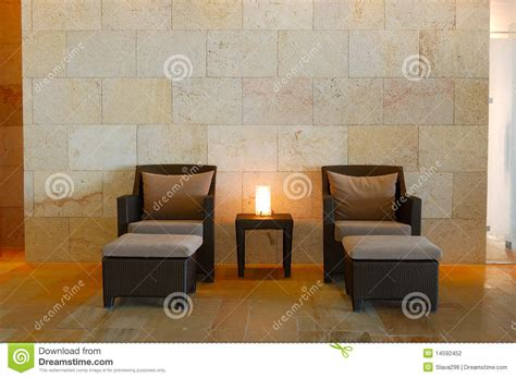 relaxation chairs at modern spa stock photo image 14592452