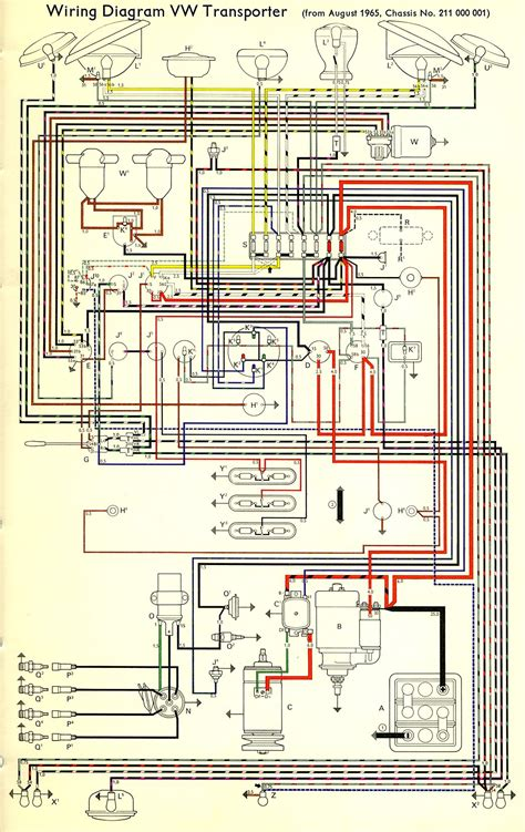 wiring diagram vw transporter the samba bay pride volkswagen diagram wire
