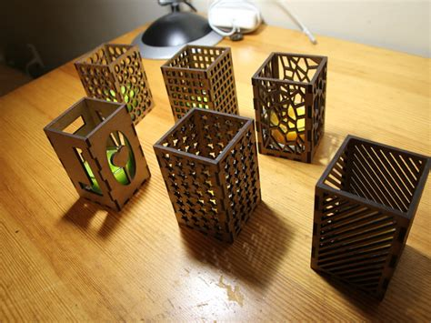 laser cut candle holders by antpgomes thingiverse