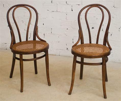 chaise e 60 chaises thonet ancienne authentique originale bois cannage bistrot vintage bois tourné