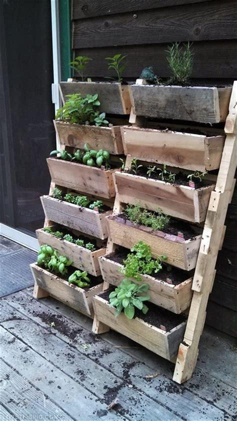 Vertical Herb Garden Pallet by 8 Rev Pallet Ideas For Outdoors Pallet Furniture Plans