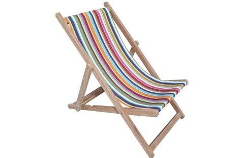 Rainbow Striped Deckchairs  Wooden Folding Deck Chairs