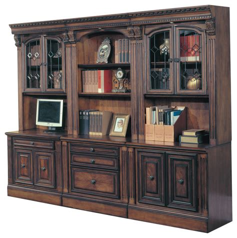 library wall units bookcase huntington office library wall unit with glass bookcase