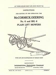 Details About Ihc Mccormick Deering No 6 And Big 6 Hay