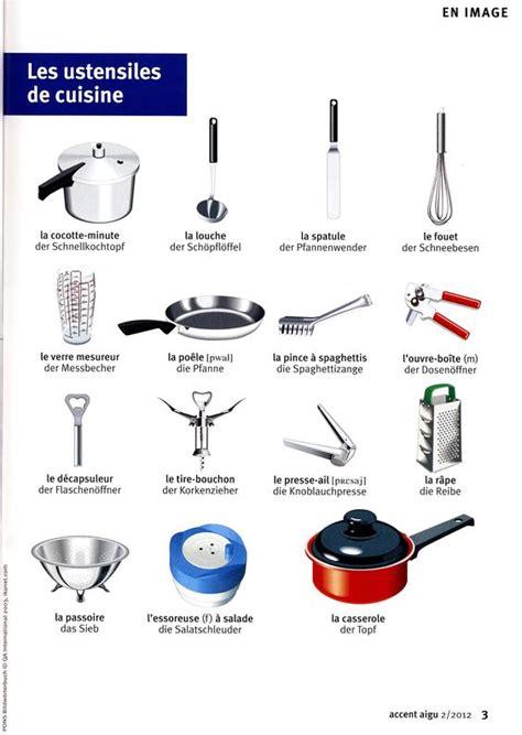 lexique ustensiles de cuisine les ustensiles de cuisine vocabulaire cuisine manger